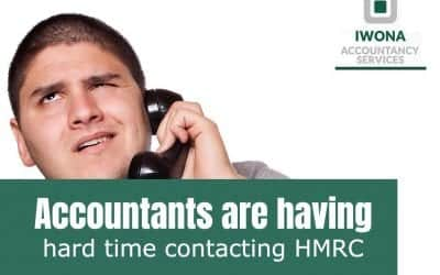 Accountants are having hard time contacting HMRC